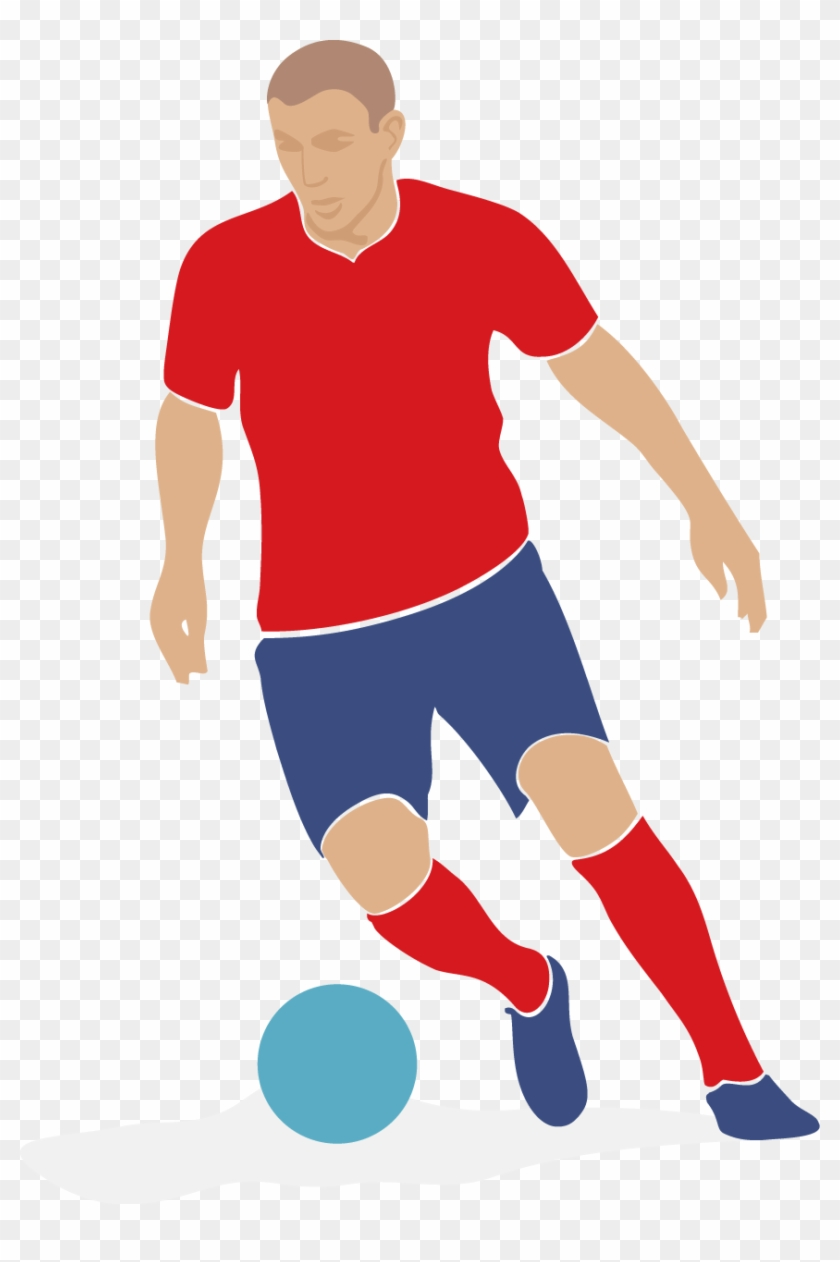 Football Player Clip Art Soccer Player Vector Free Transparent