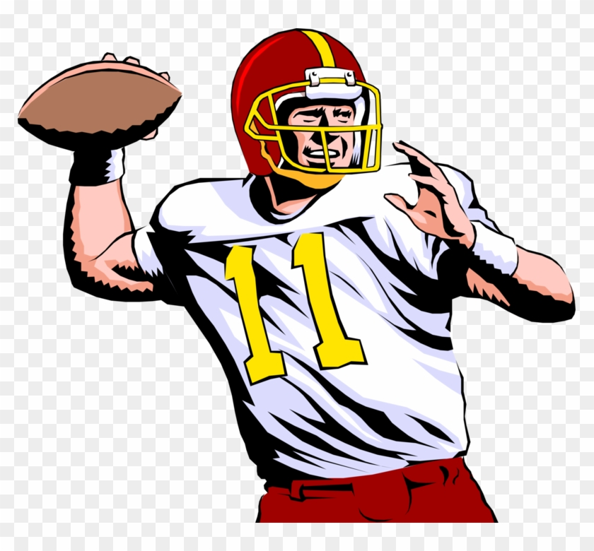 Quarterback Throws Pass In Football Game Playing American Football Clipart Free Transparent Png Clipart Images Download