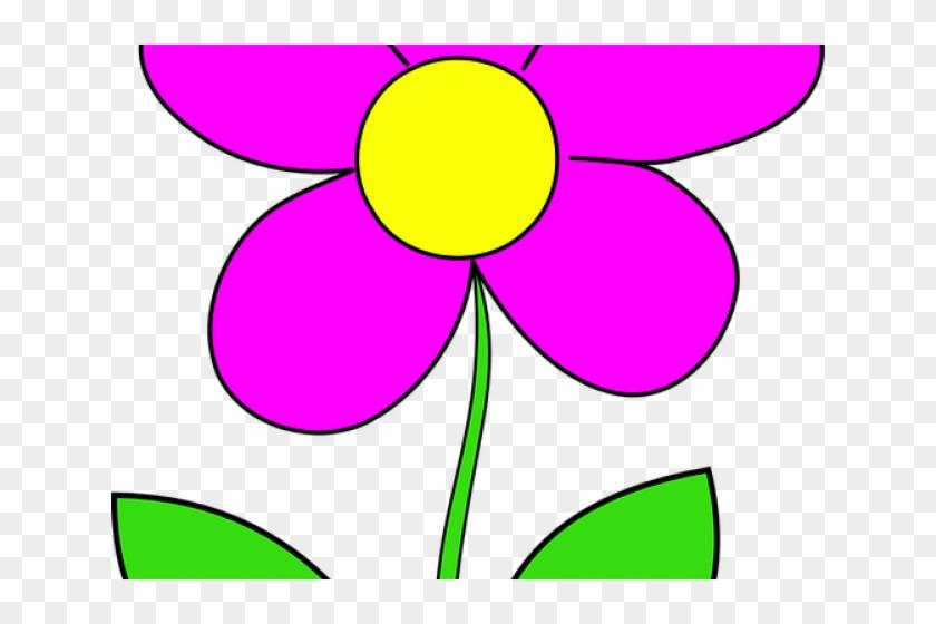 Pink Cartoon Flowers Parts De La Flor Free Transparent Png