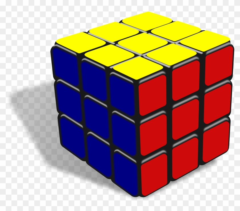 Clip Art Cube Medium Size - Rubix Cube Clip Art #317827