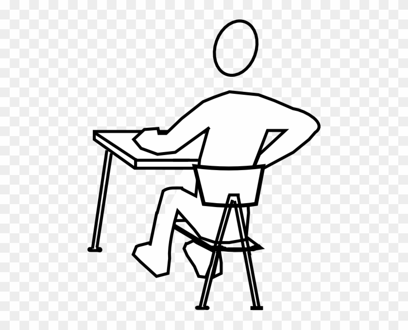 Student Distracted Clip Art At Clker - Drawing Of A Man Studying #317904