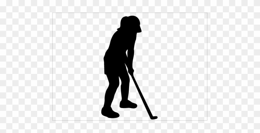 Female Golfer Silhouette Vector Silhouette Graphics Female Golfer