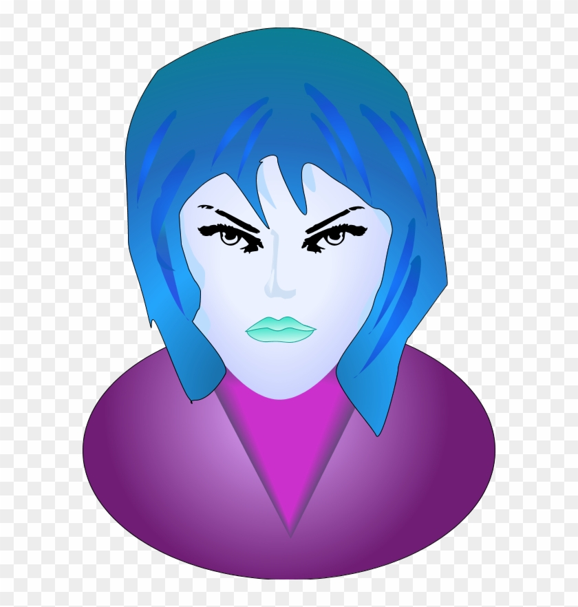 Woman Angry Face - Smiley Femme Fatale Face 1 25 Magnet Emoticon #318370