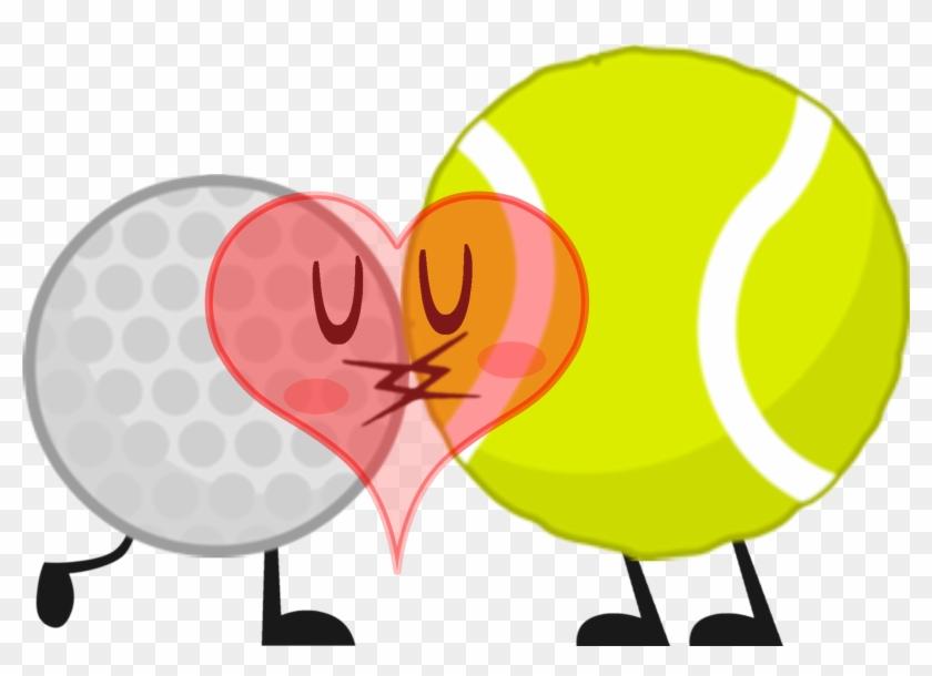 Bfdi Tennis Ball And Golf Ball - Bfdi Golf Ball X Tennis Ball #318578