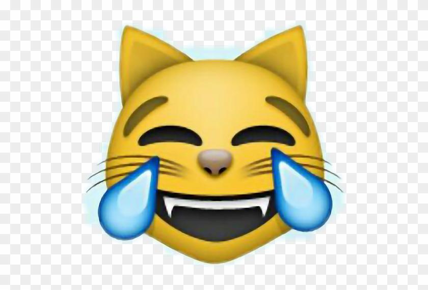 Emoji Cat Funny Happy Laugh Kjapa Riverdale Lol Swag - Laughing Crying Cat Emoji #318818