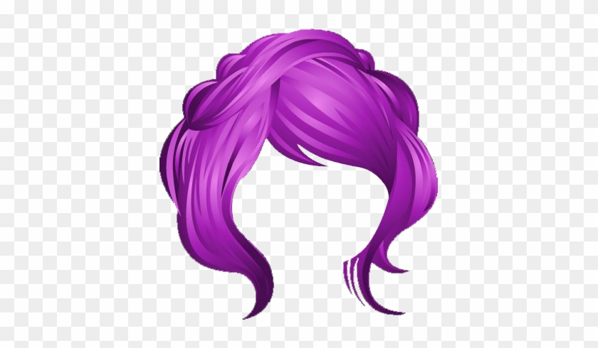 Pink Hair Clipart Transparent - Wig Clipart #319248