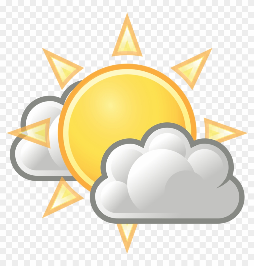 Clip Arts Related To - Sun With Clouds Transparent #319274