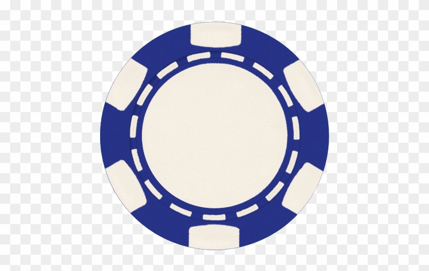 50 Blue 6 Stripe - Poker Chip Clip Art #319300