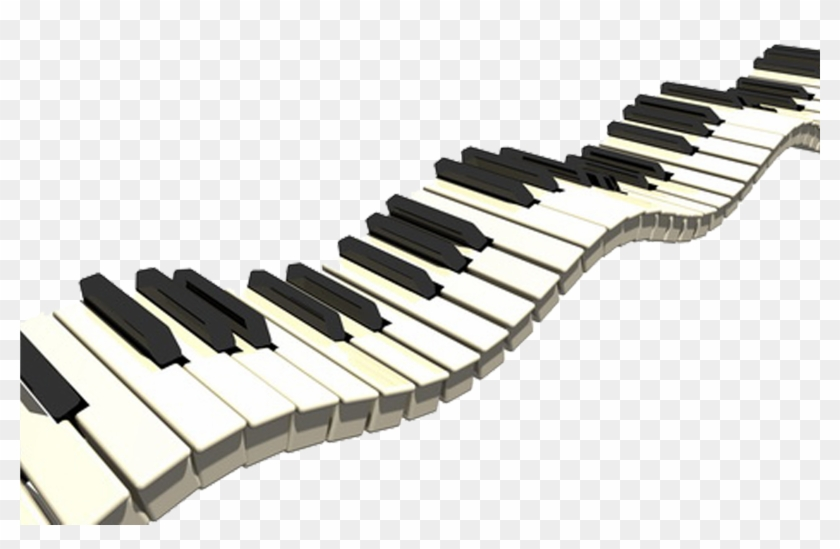 Piano Musical Keyboard Clip Art - Piano Keys Throw Blanket #319313