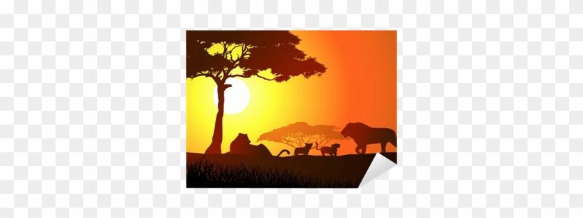 Acacia Tree Silhouette Clip Art #319465