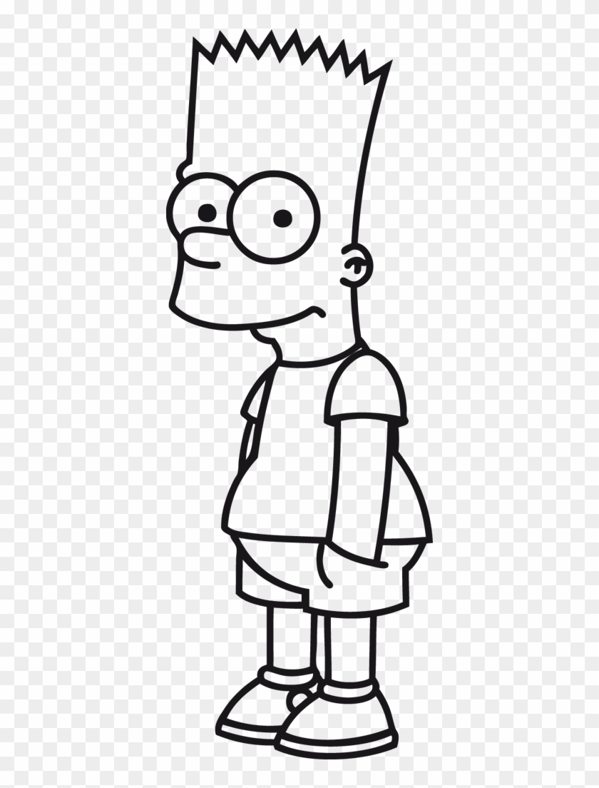 The Simpsons Clipart Black And White Bart Simpson Para Colorir