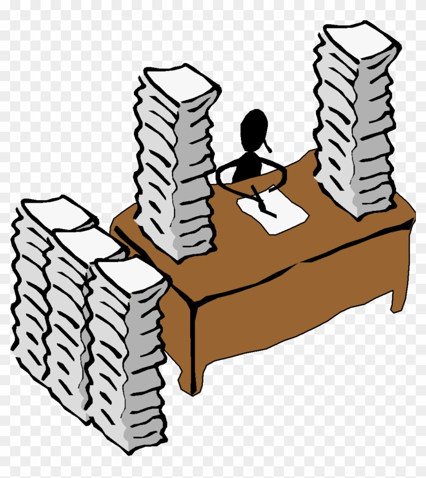 head on desk clipart - paperwork clipart - free transparent png