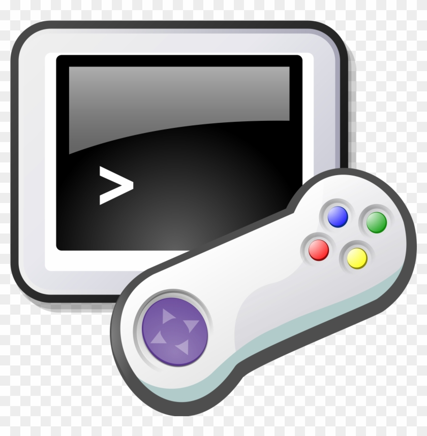 2000px-old Computer Game - Video Game Controller Clip Art #319904