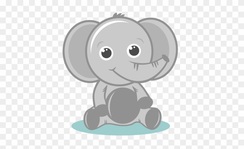 Cute Baby Zoo Animals Clipart Clipartxtras - Cute Baby Elephant Png #320033