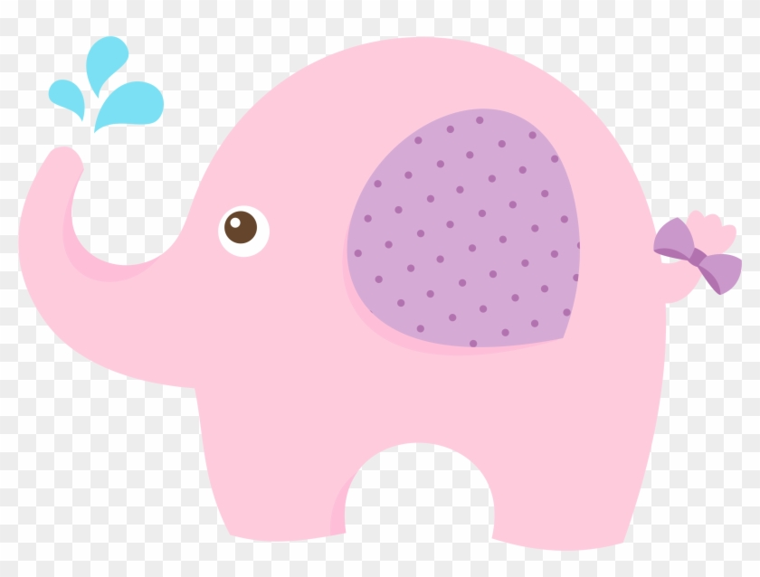 Baby Shower Elephant Infant Clip Art - Pink Baby Elephant Clipart #320706