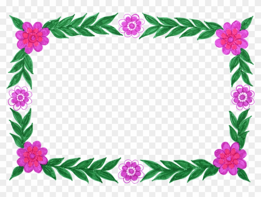 Free Download - Hd Png Frames Flower - Free Transparent PNG Clipart ...