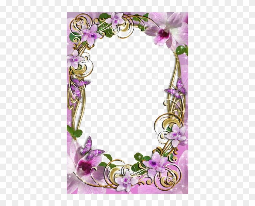 Transparent Delicate Frame With Flowers - Frames Free Transparent Download Designs Clip Art #320932