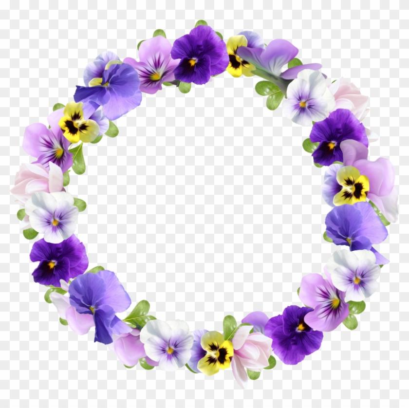 Flower Picture Frames Best Borders Clip Art Flower Round Frame Png