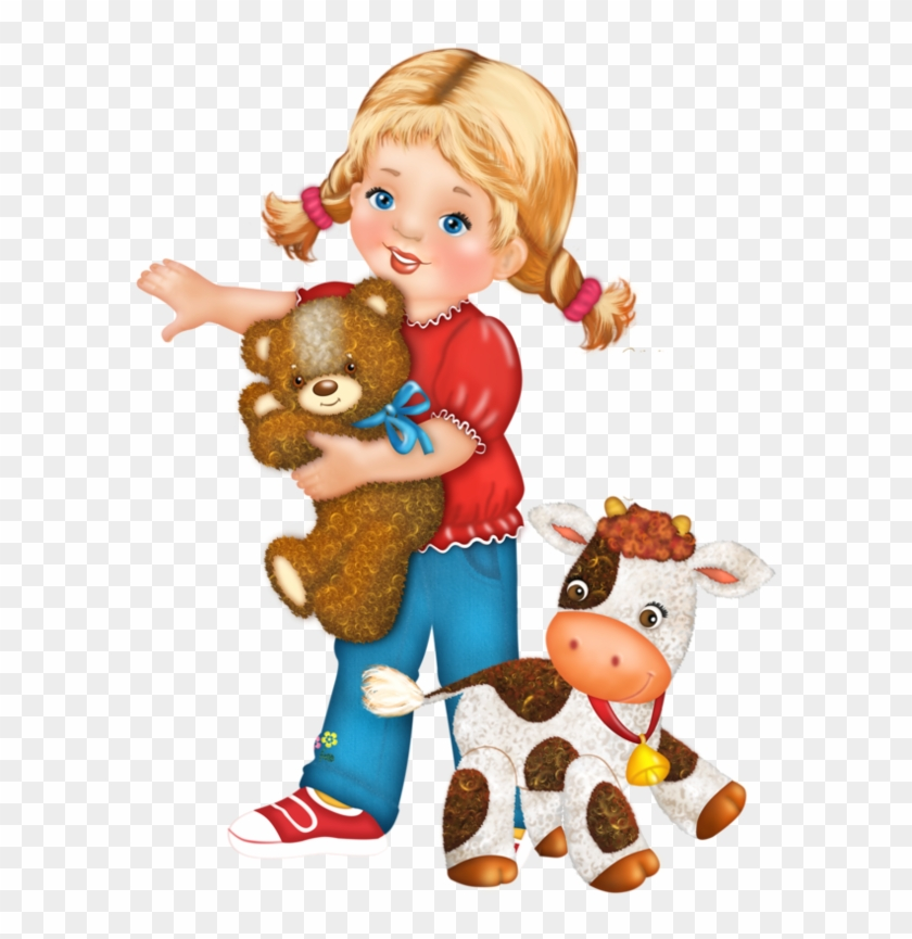 Personnages, Illustration, Individu, Personne, Gens - Girl Playing Doll Clipart Png #320981