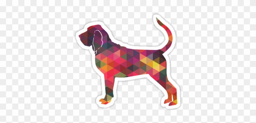 Bloodhound Dog Breed Geometric Silhouette Multi • Also - Beagle #321061