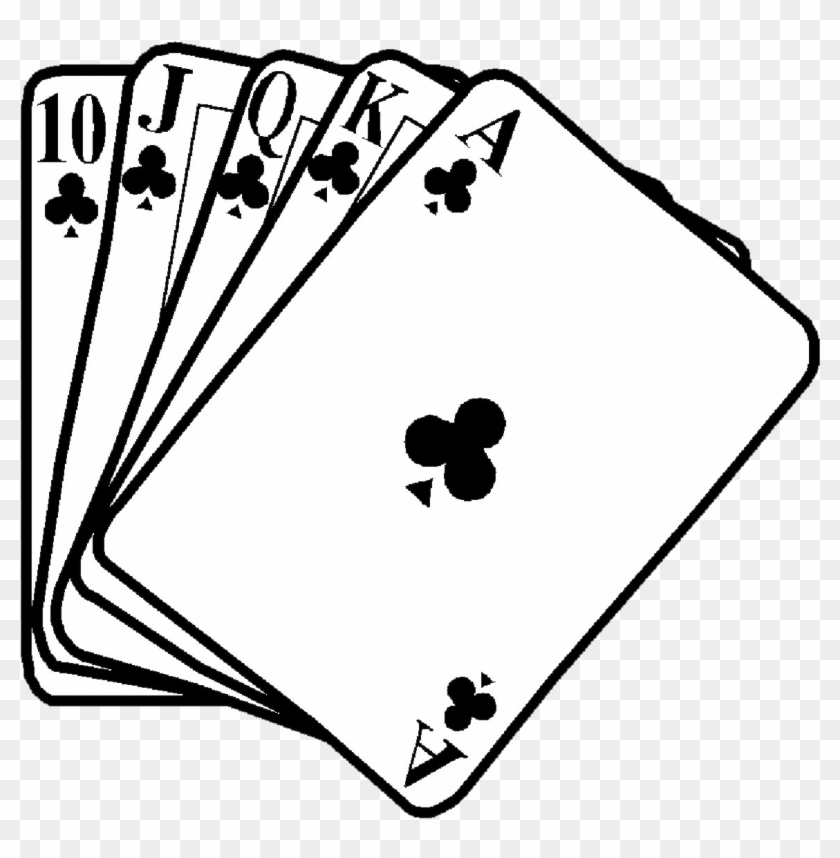 Stunning Inspiration Ideas Poker Clipart Hands Clipart - Deck Of Cards Clip Art Black And White #321880