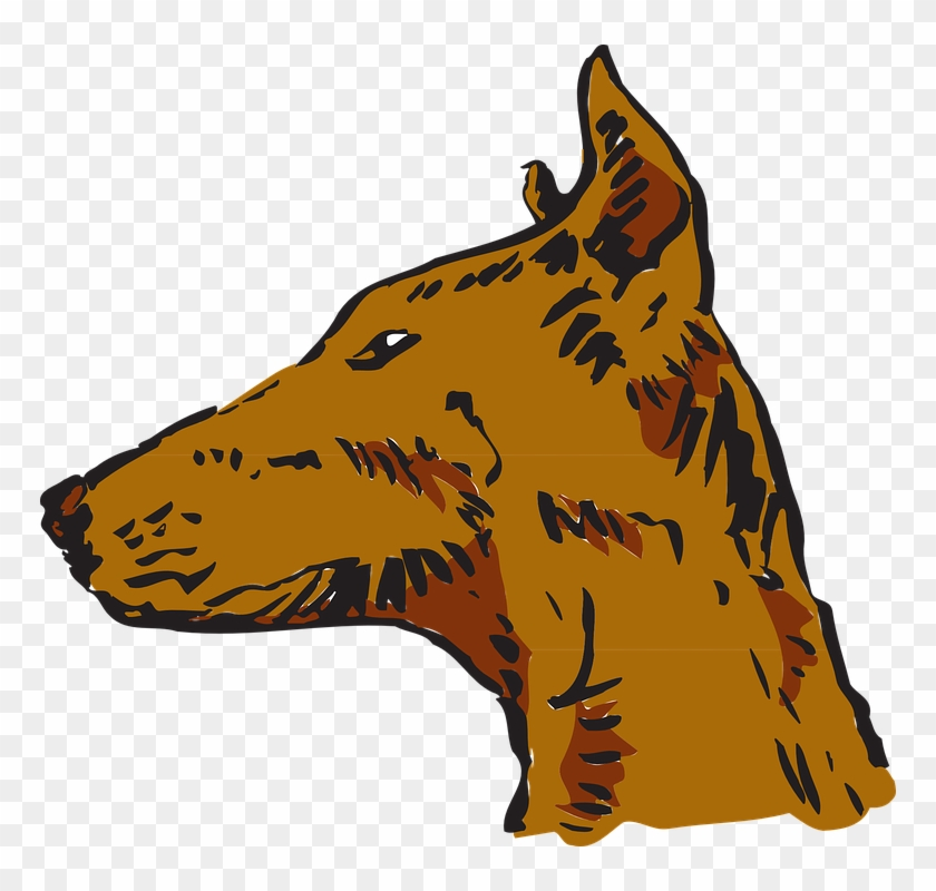 Pets Clipart Animal Fur - Side View Of Dog Head #321918