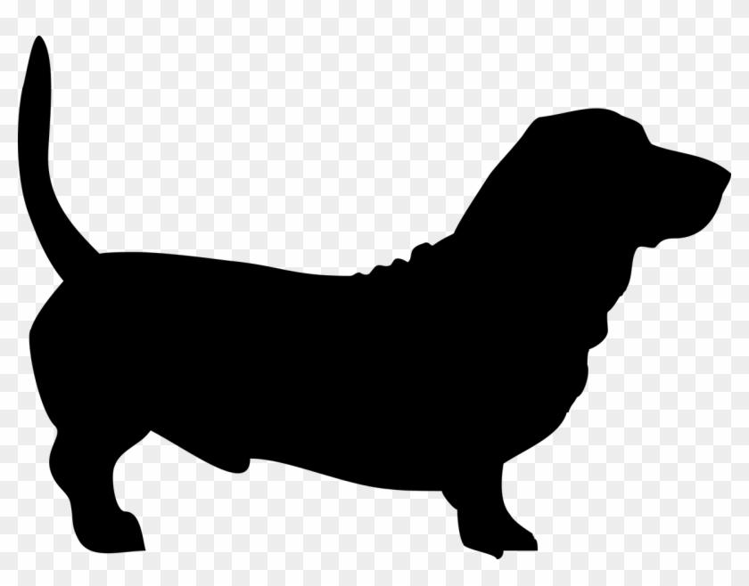 Basset Hound Dachshund Dog Grooming Silhouette Clip - Basset Hound Dog Silhouette #322122