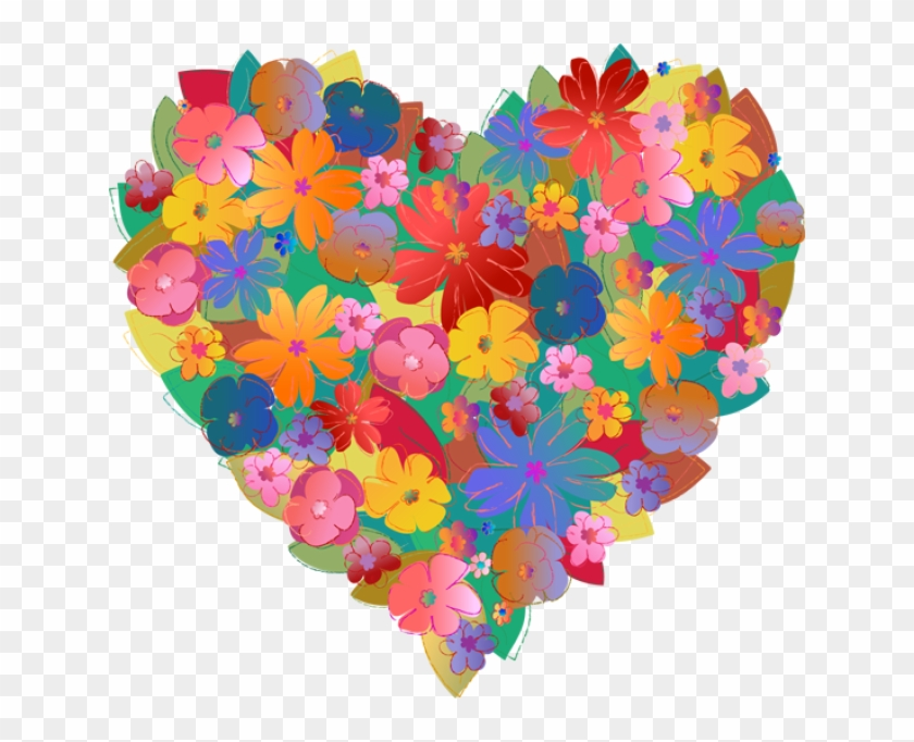 Hearts And Flowers Clip Art - Flowers Heart Pretty #322202