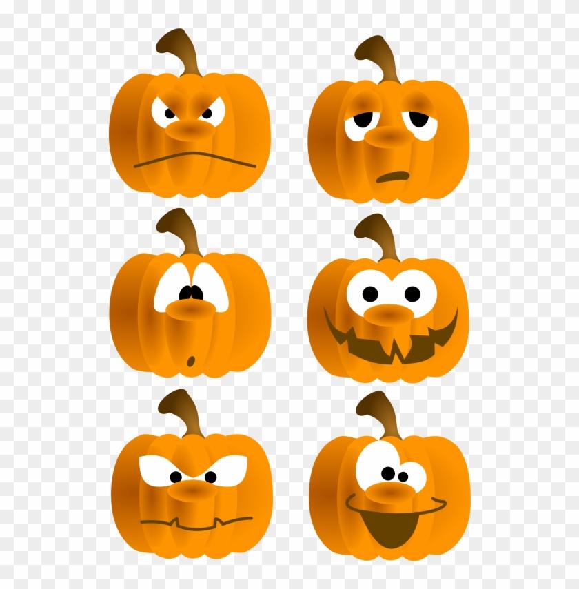 Free Set Of Six Funny Pumpkin Faces Clip Art Funny Face Pumpkins Clipart Free Transparent Png Clipart Images Download