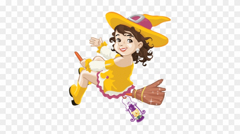 Funny Witches Halloween Witch Cartoon Clip Art Images - Yellow Witch Clipart #322257