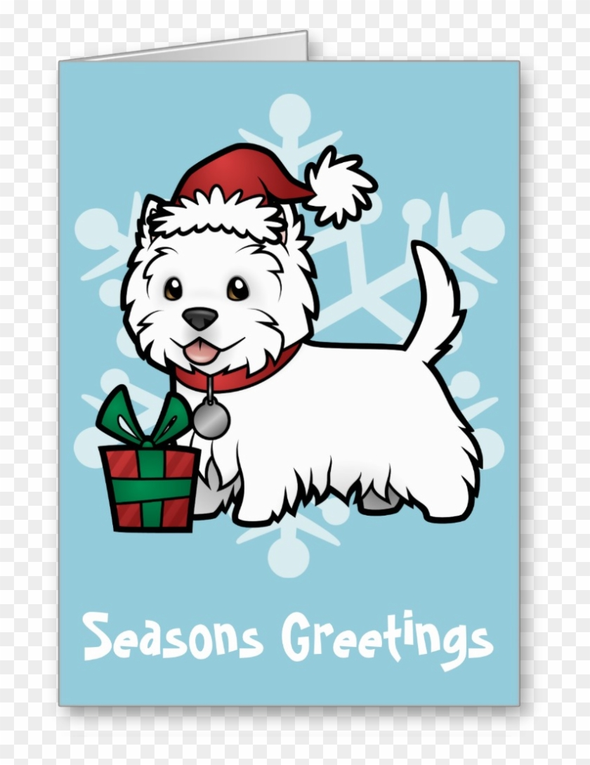 Cute Westie Christmas Card - Love - Free Transparent PNG Clipart ...