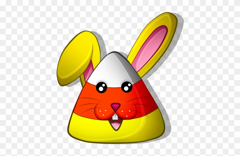 Free Halloween Bunny Candy Corn Icon By Souleevee99 - Cartoon #322424