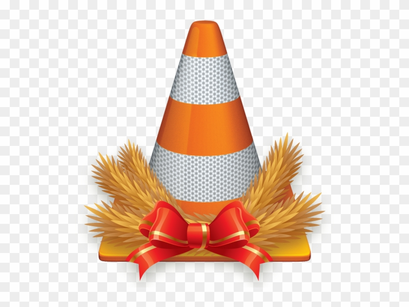 Cone With Floral Christmas Arrangement - Vlc Media Player Free Download #322552