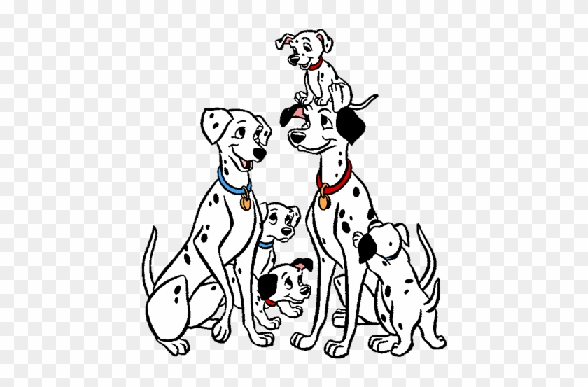 Pongo And Perdita And Their Dalmatian Puppies 101 Dalmatians - 101-dalmatians-coloring-page
