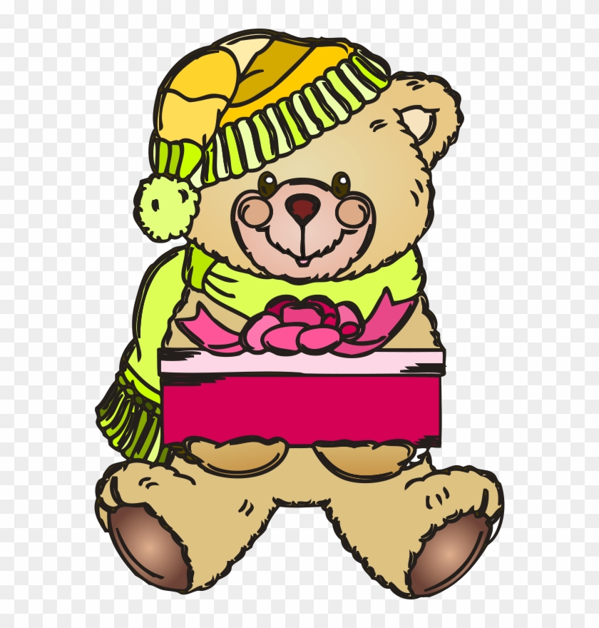 Christmas Teddy Bear Coloring Pages #322595