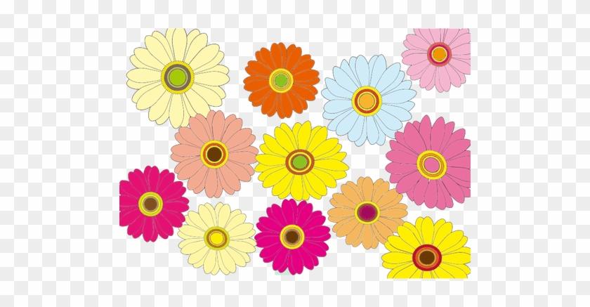 Bunte Blumen - Clipart Multicolor Flowers Png - Free Transparent PNG