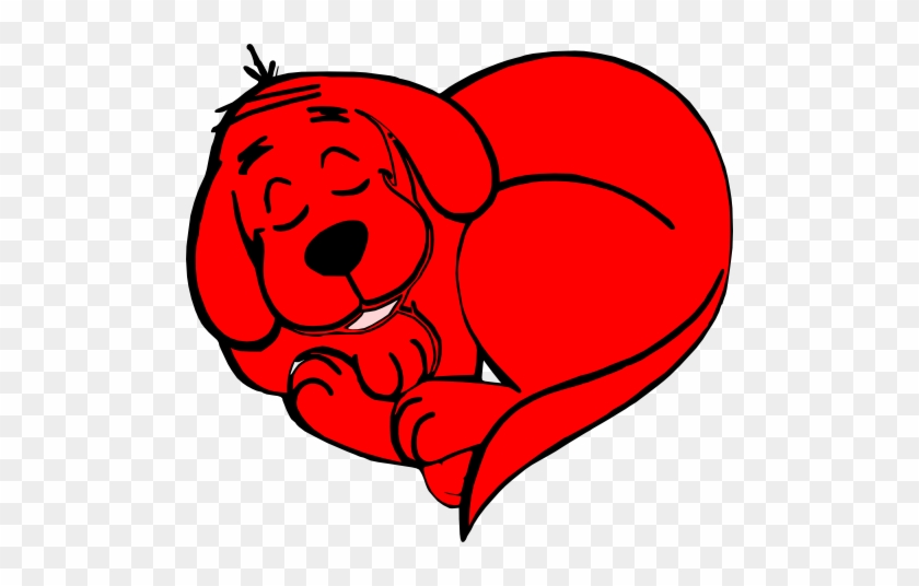 Clifford Clip Art - Clifford The Big Red Dog Heart #322815