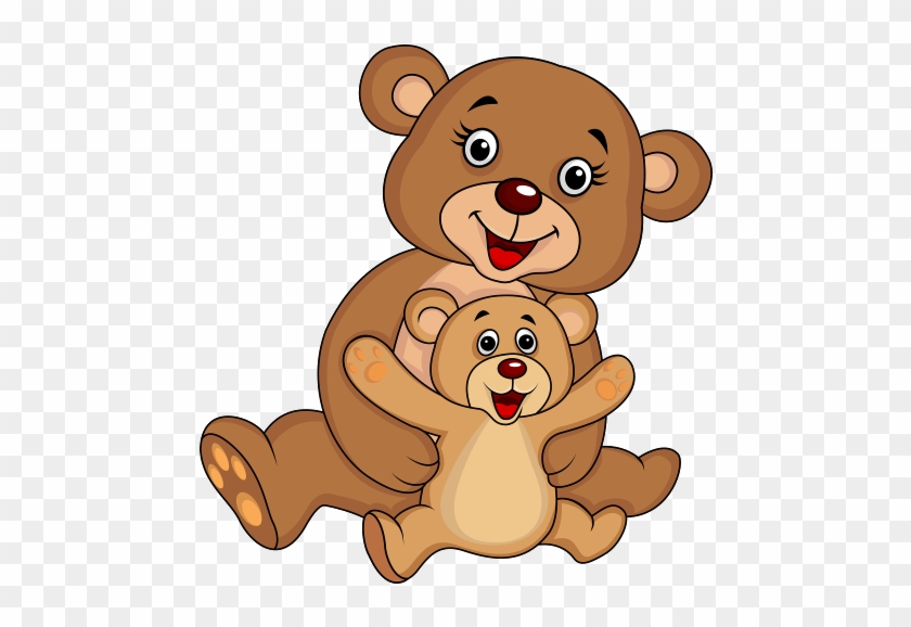 Mother And Baby Bear - Animal And Baby Cartoon #323507