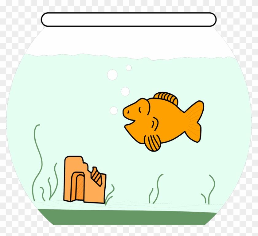 Goldfish - Cartoon Goldfish In Bowl #323593