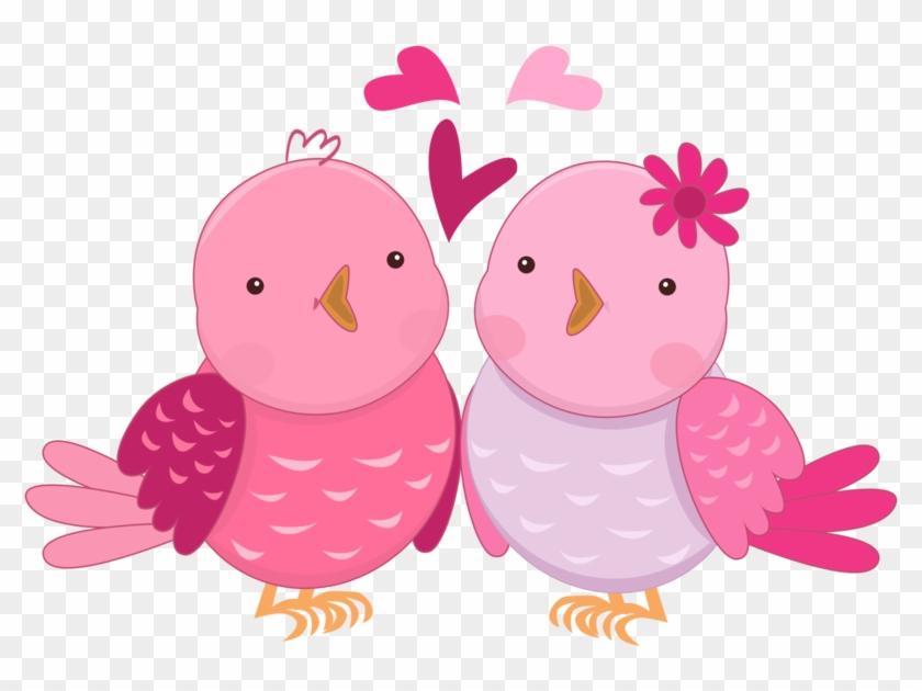 Pink In Love Birds Clipart Oh My Fiesta Wedding - Clip Art #323644