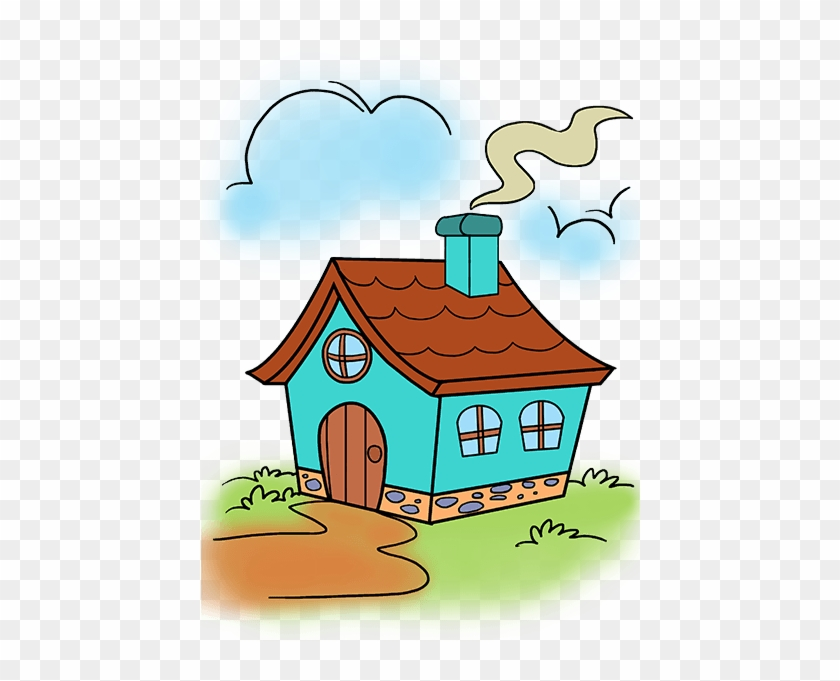 How To Draw A House Cartoon House Drawings Free Transparent Png Clipart Images Download