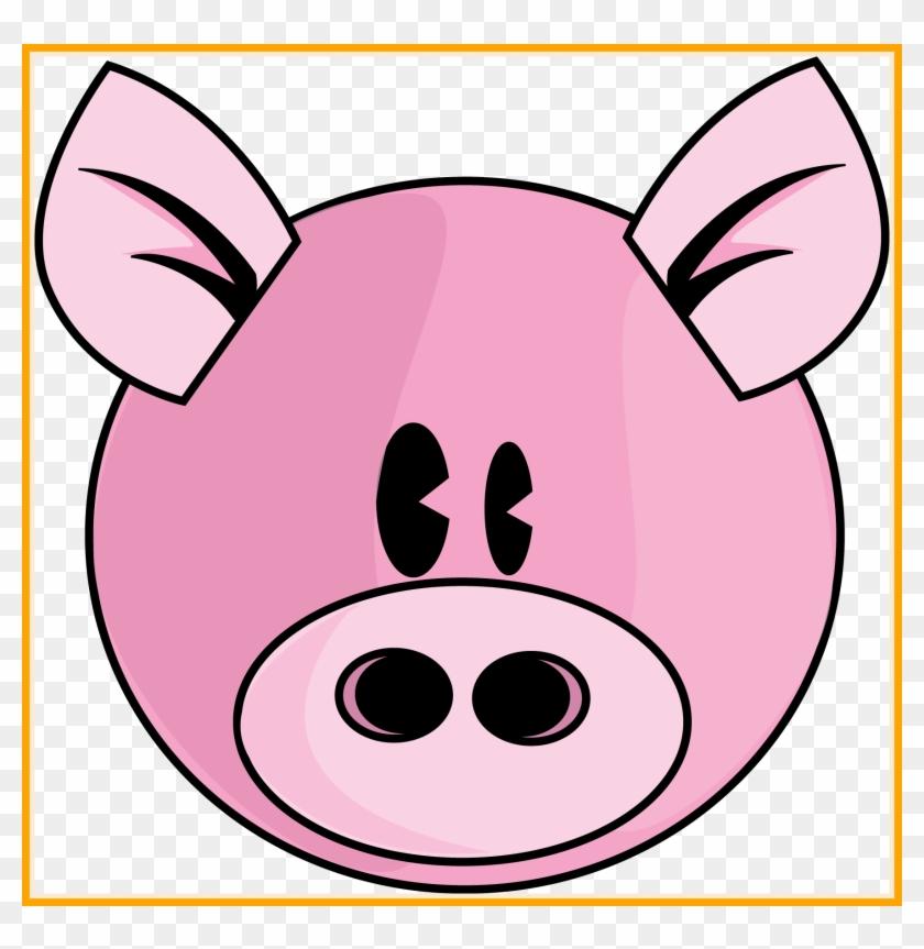 Stunning Cartoon Pig Face Clip Art On Of Cute Little - Drawing #323877