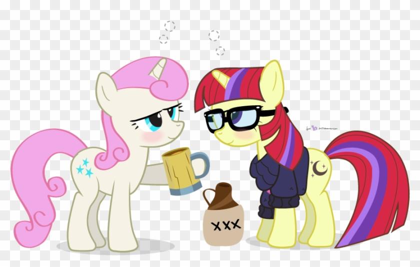 Dm29, Background Pony, Blushing, Derp, Drinking, Drunk, - Cartoon #323887
