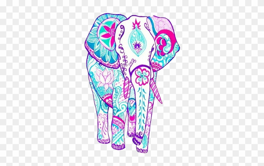 Pretty Elephant - Colorful Indian Elephant Drawing #323931