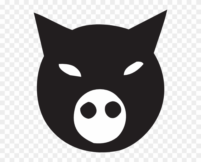 Black Pig Face Svg Clip Arts 558 X 597 Px - Pig Face Animal Farm #323965