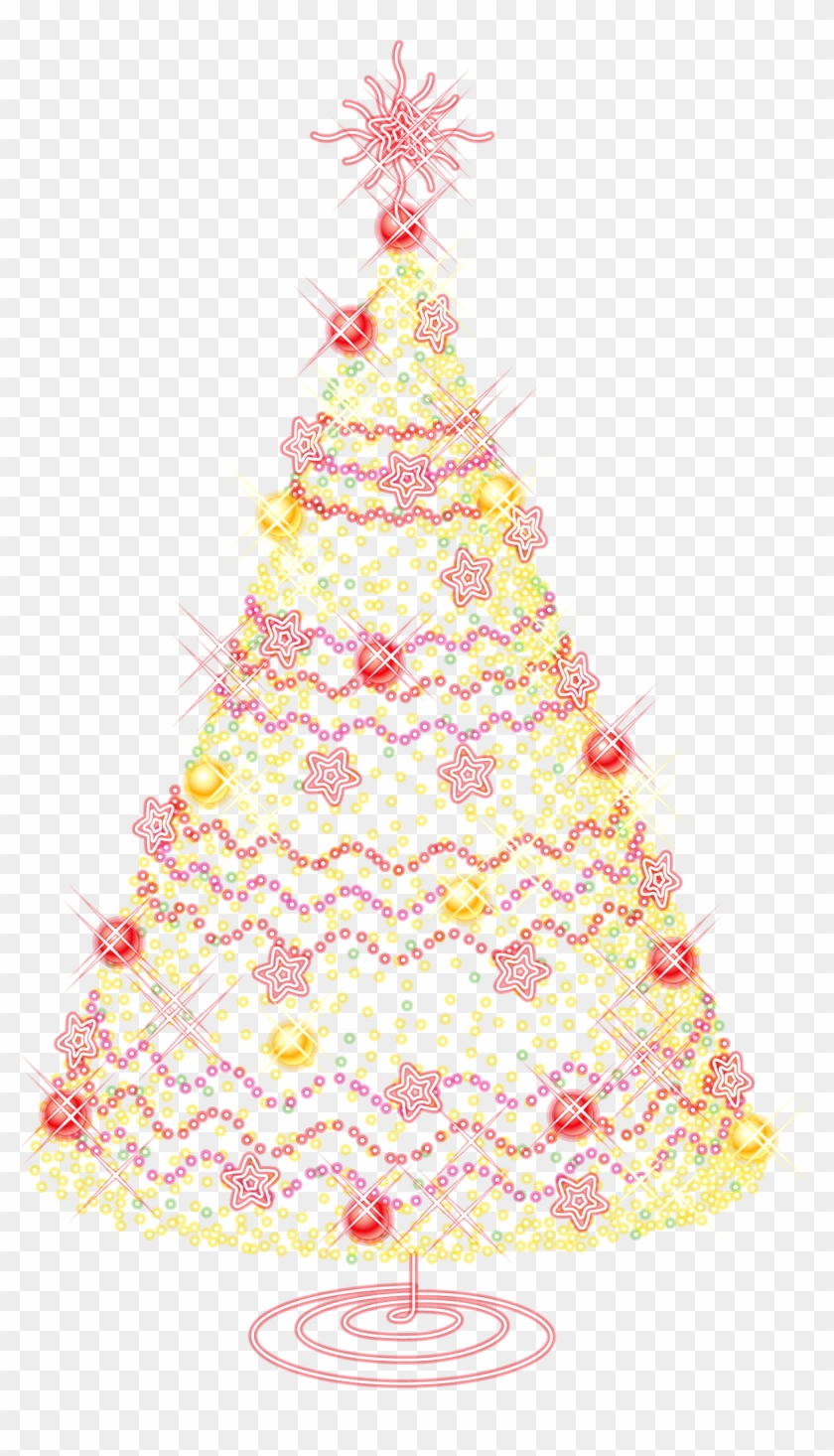 Gold Christmas Ornaments Png.Large Gold Transparent Christmas Tree With Ornaments