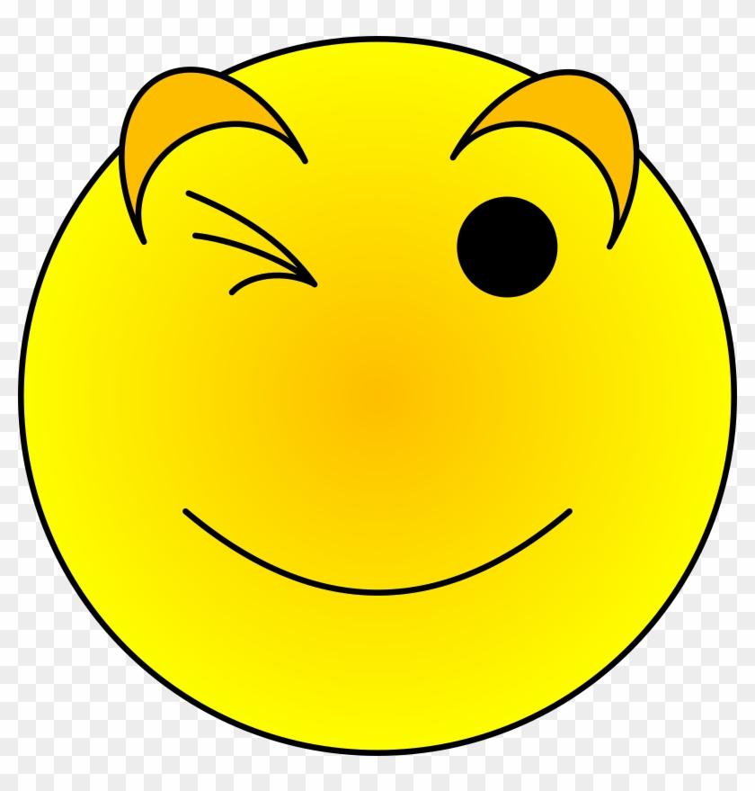 wink face clip art - 840×879