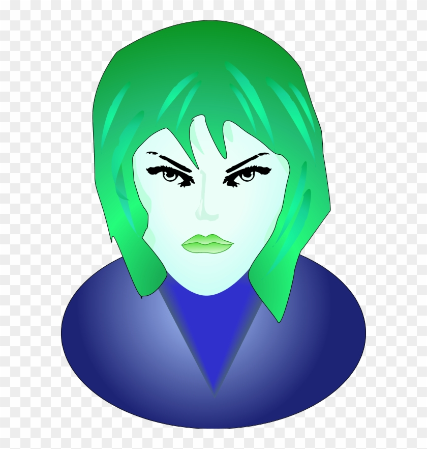 Woman Angry Face - Smiley Femme Fatale Face 1 25 Magnet Emoticon #324197