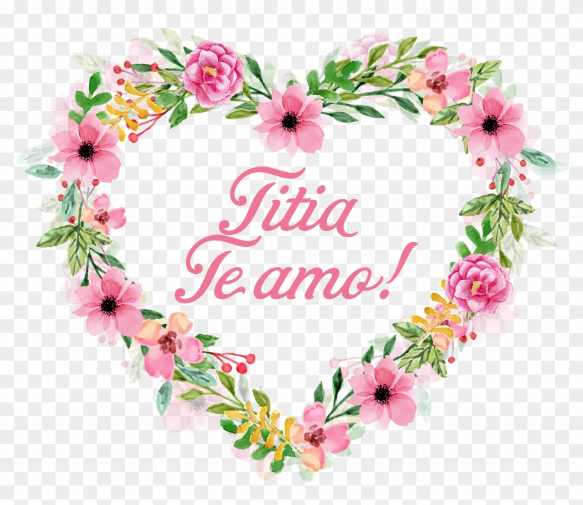 Titia - Flower Heart Watercolor Png #324256