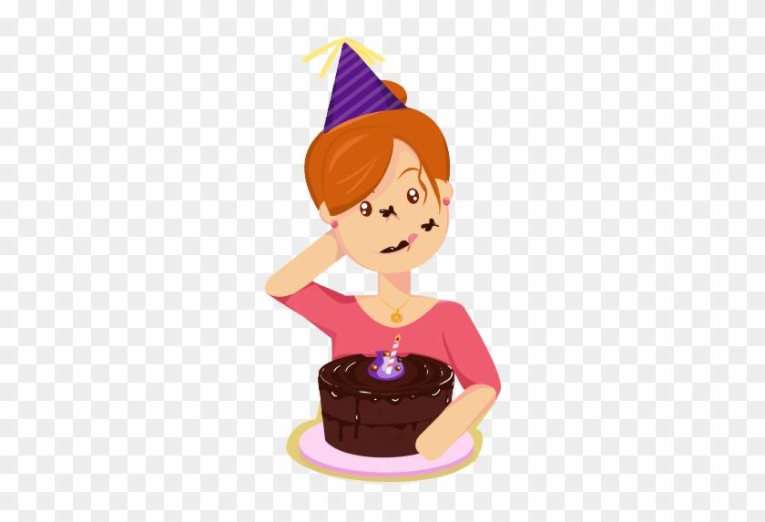 Eating Cake Clipart - Girl Eat Cake Clipart #324257